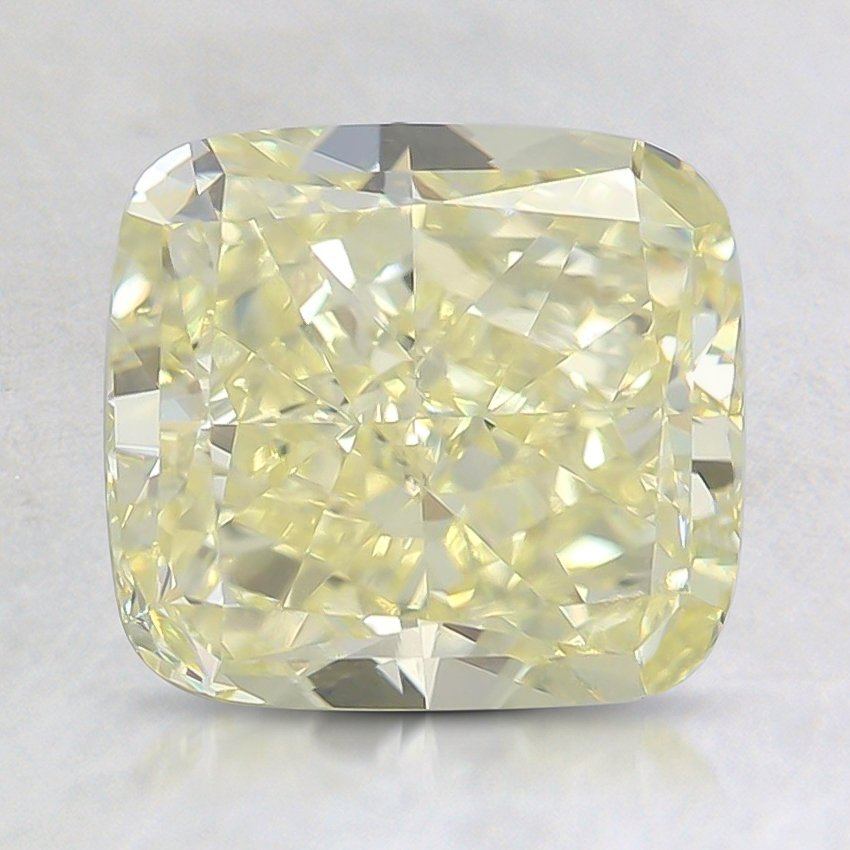 3.01 Ct. Fancy Yellow Cushion Diamond