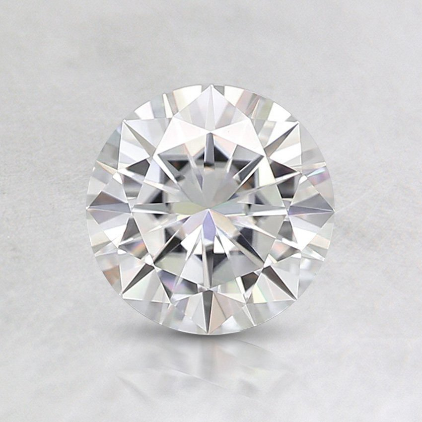 6mm Super Premium Round Moissanite, top view