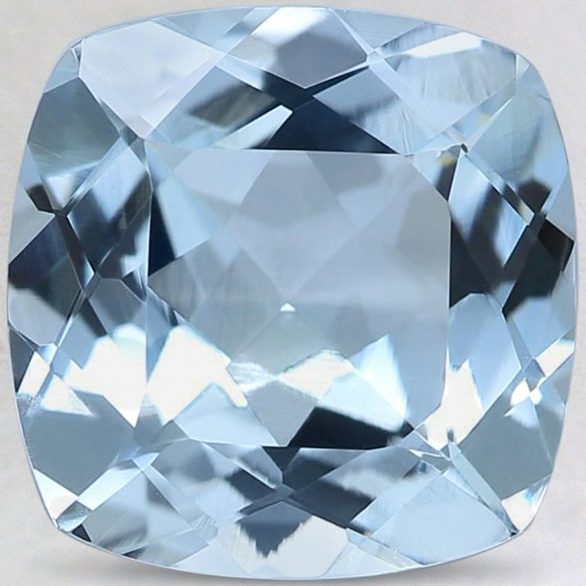 9.9mm Fine Cushion Aquamarine