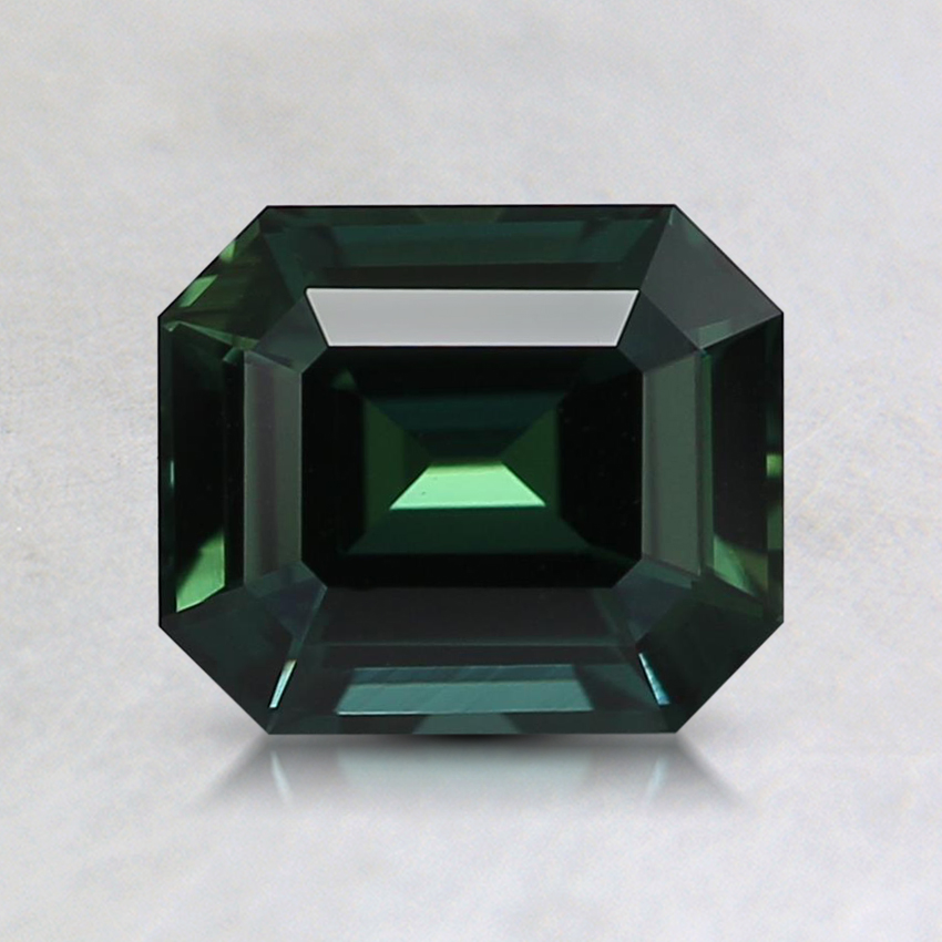6.7x5.7mm Unheated Teal Emerald Sapphire