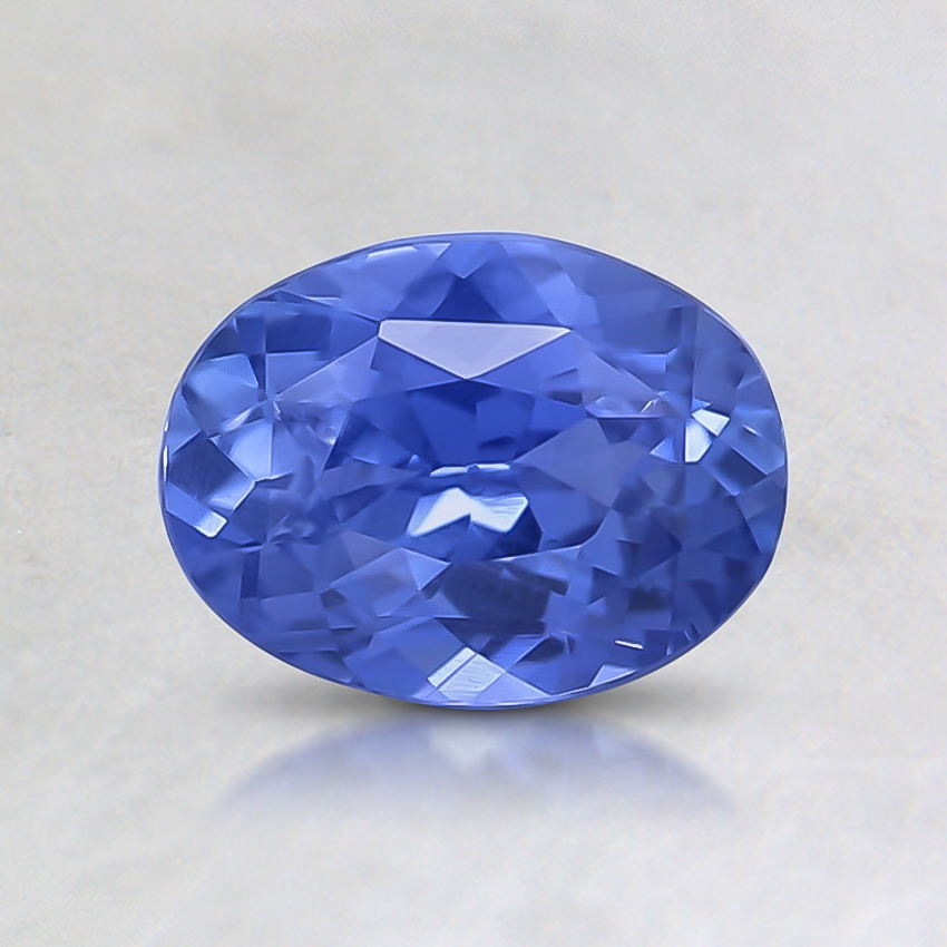 6.8x5.1mm Unheated Oval Blue Sapphire