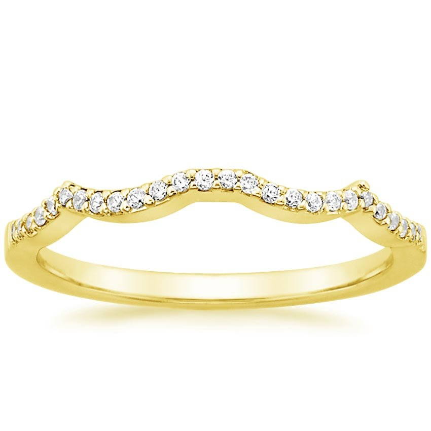 18K Yellow Gold Infinity Diamond Ring, top view