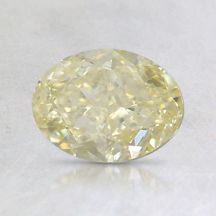 1.08 Ct. Fancy Yellow Oval Diamond