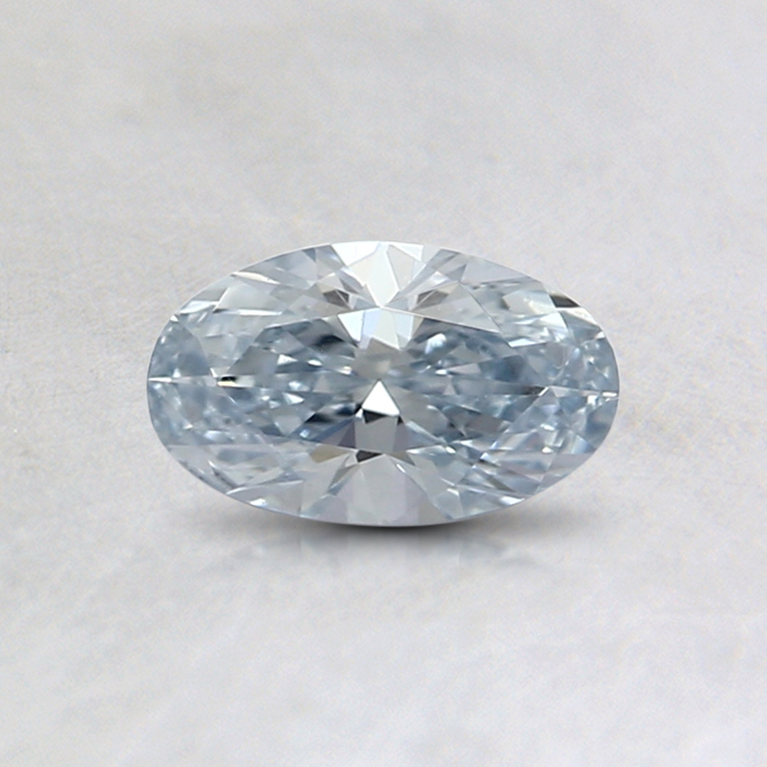 0.35 Ct. Light Blue Oval Lab Created Diamond
