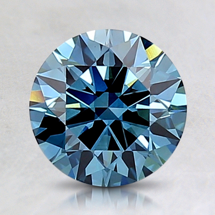 1.57 Ct. Fancy Deep Blue Round Lab Created Diamond