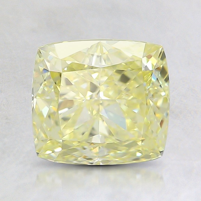1.81 Ct. Fancy Light Yellow Cushion Diamond | DY1.81CUFLYVVS1