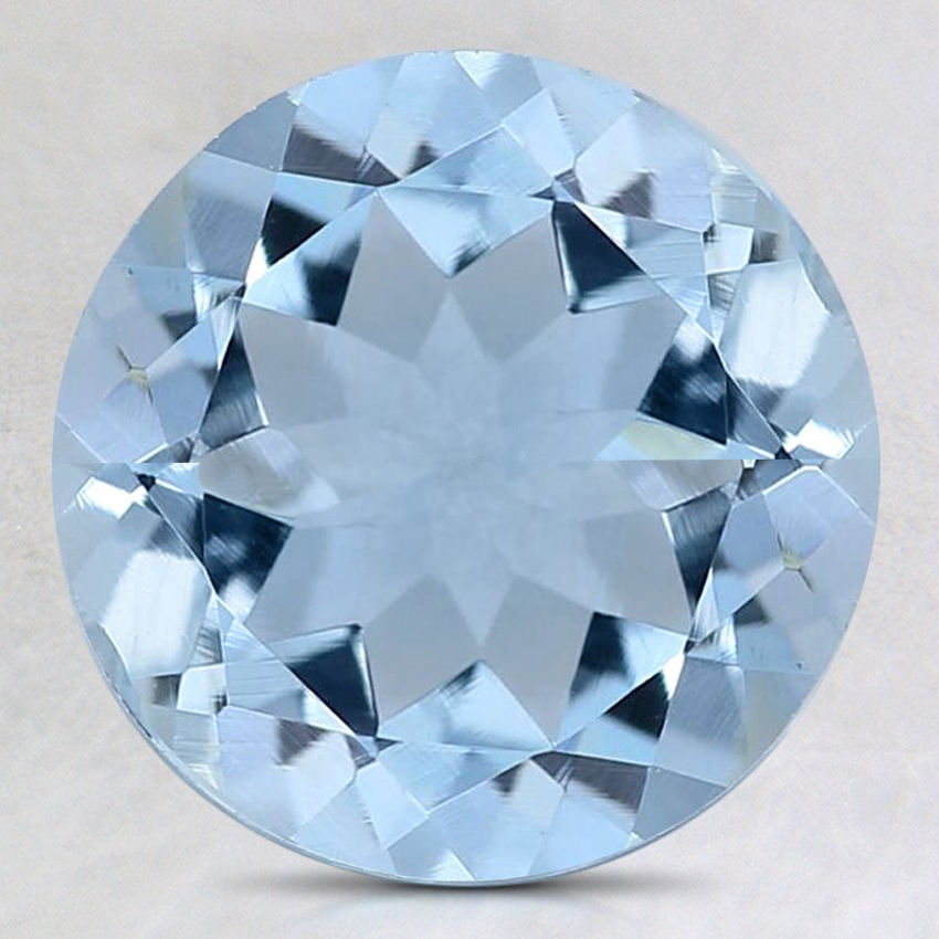 9mm Fine Round Aquamarine