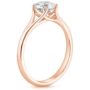 14K Rose Gold Reverie Ring, top view