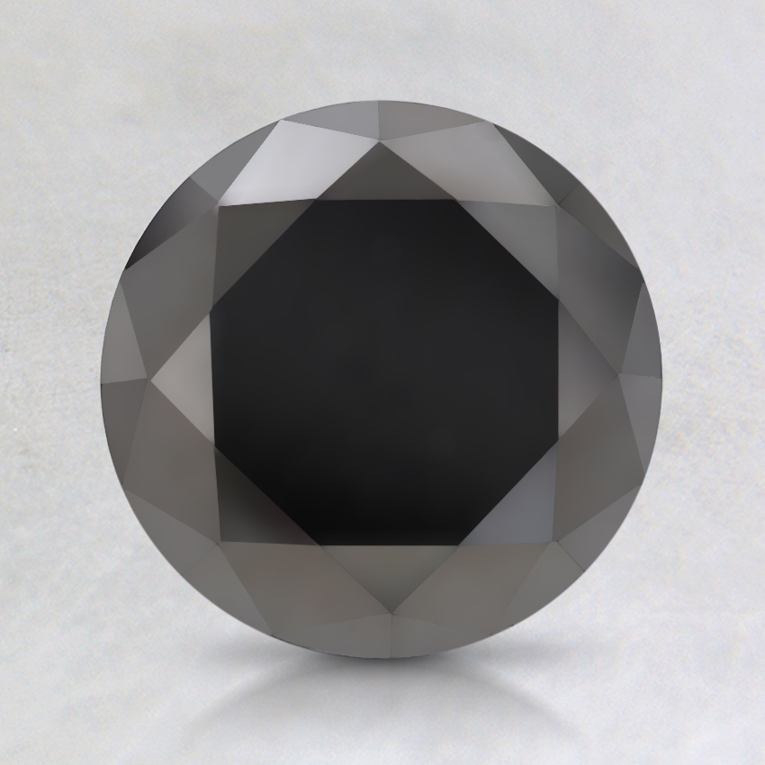 1.19 Ct. Black Round Diamond