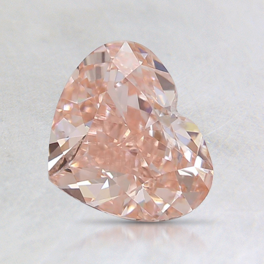 0.99 Ct. Fancy Orangy Pink Heart Lab Created Diamond