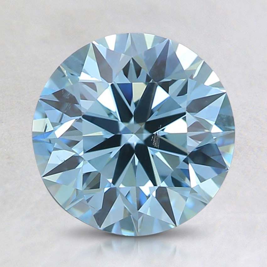 1.77 Ct. Fancy Green-Blue Round Lab Created Diamond