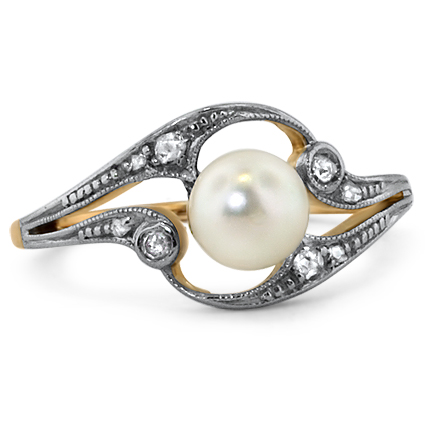 The Perla Ring, top view