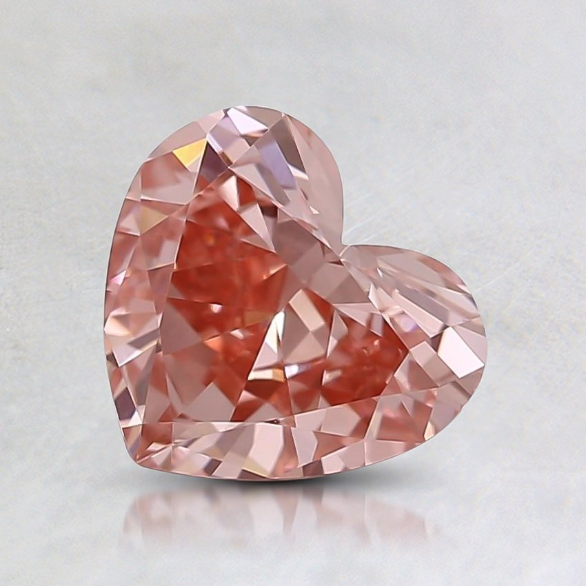 0.62 Ct. Fancy Pink Heart Lab Created Diamond