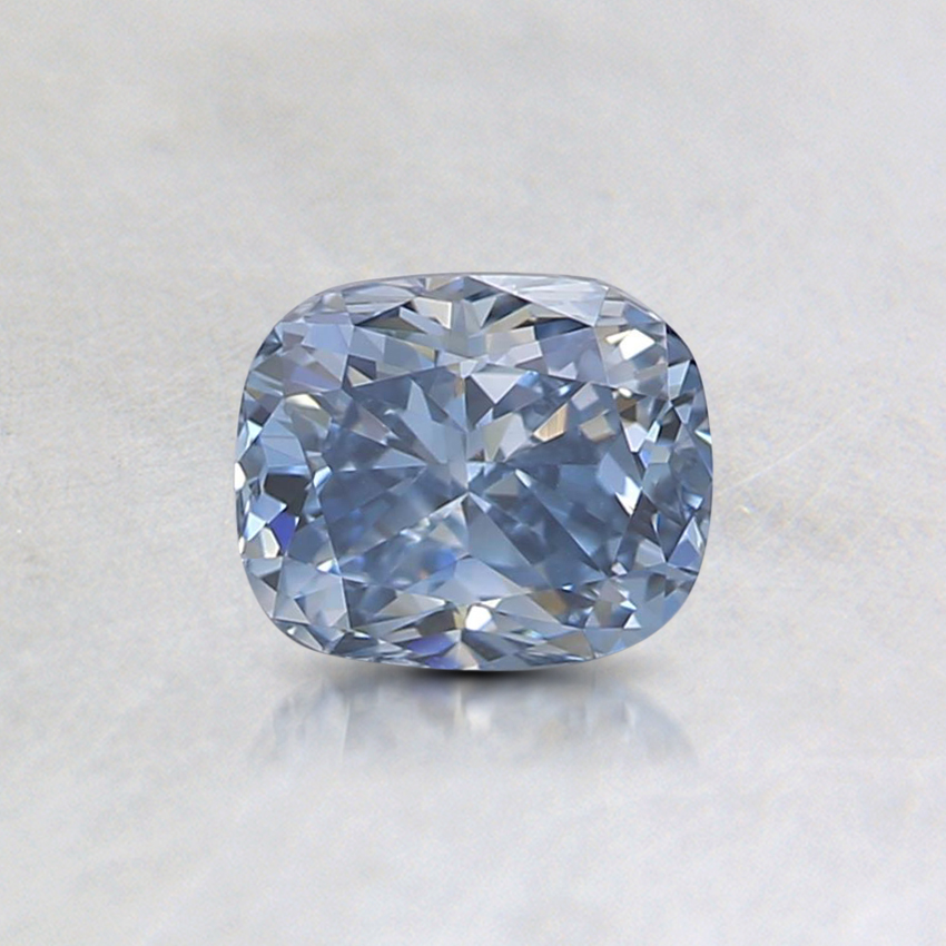 0.59 Ct. Fancy Intense Blue Cushion Lab Created Diamond