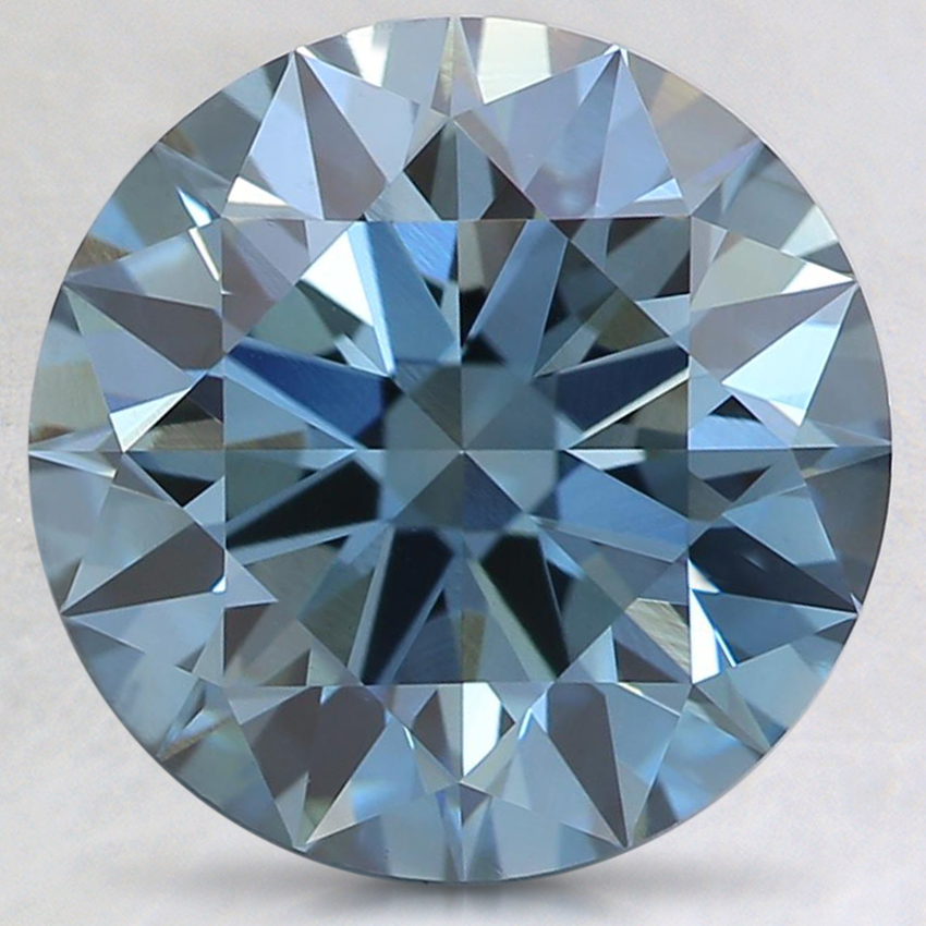 3.18 Ct. Fancy Deep Blue Round Lab Created Diamond