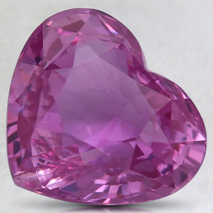 9.5x8.2mm Premium Pink Heart Sapphire, top view