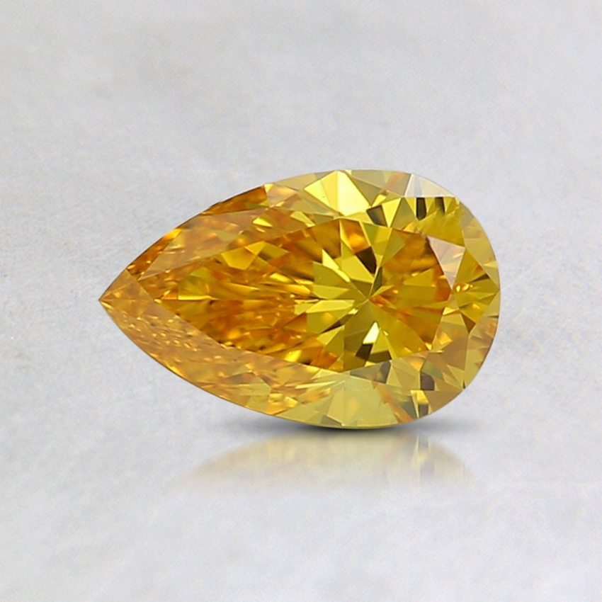 0.51 Ct. Fancy Vivid Orange-Yellow Pear Lab Created Diamond