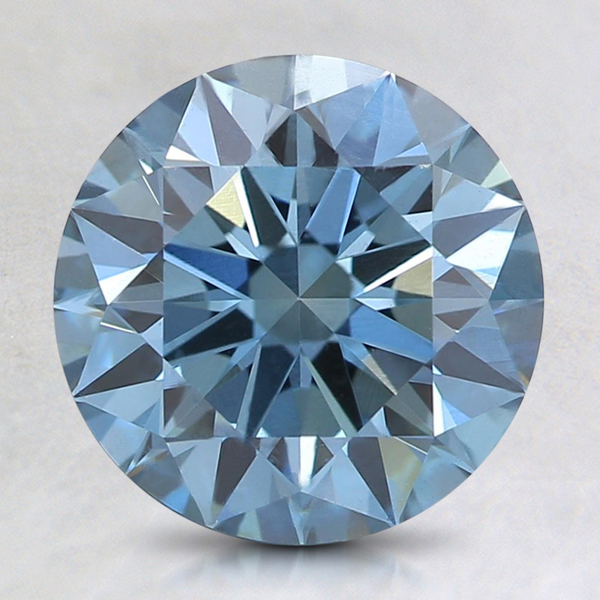 2.22 Ct. Fancy Deep Blue Round Lab Created Diamond
