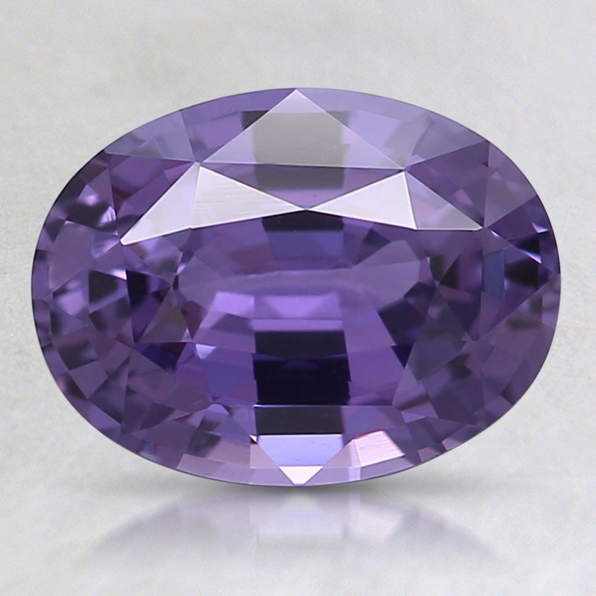 9x6.8mm Unheated Purple Oval Sapphire