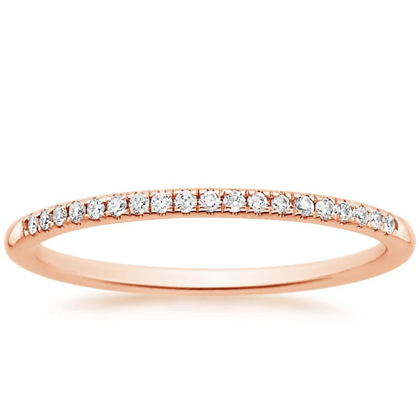 14K Rose Gold Whisper Diamond Ring, top view