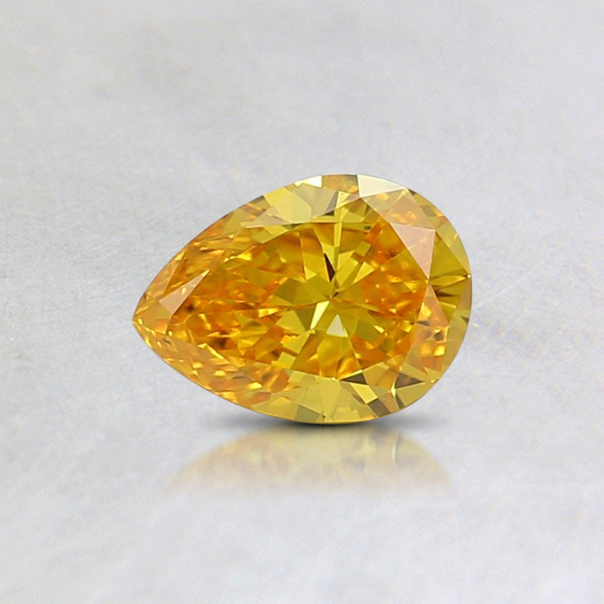 0.35 Ct. Fancy Vivid Orange-Yellow Pear Lab Created Diamond