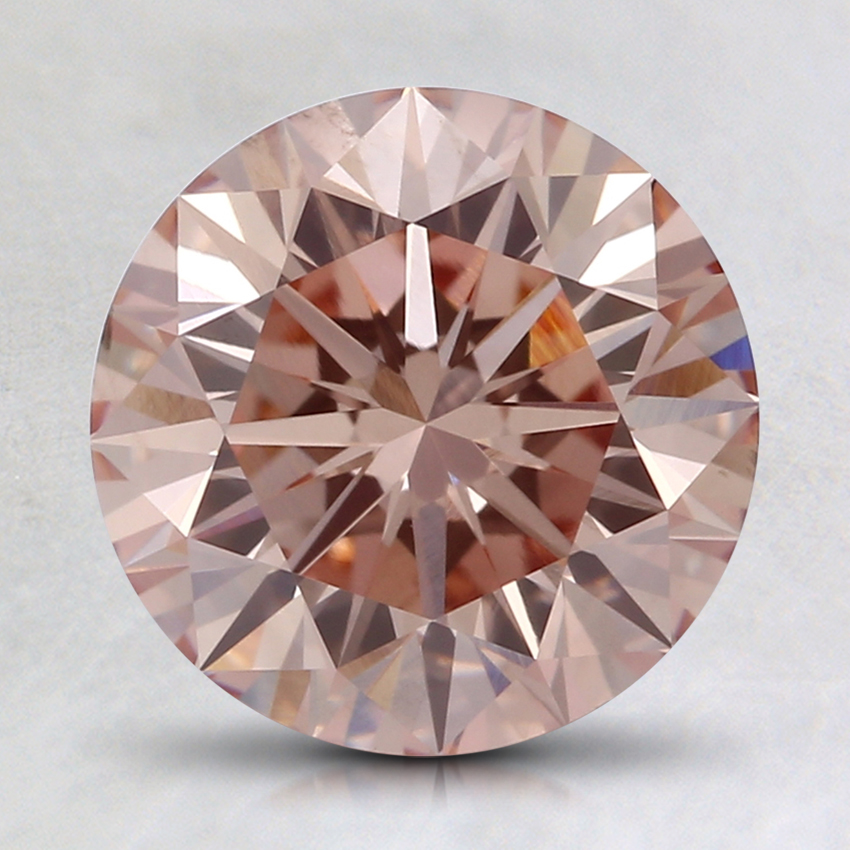 2.01 Ct. Fancy Orangy Pink Round Lab Created Diamond