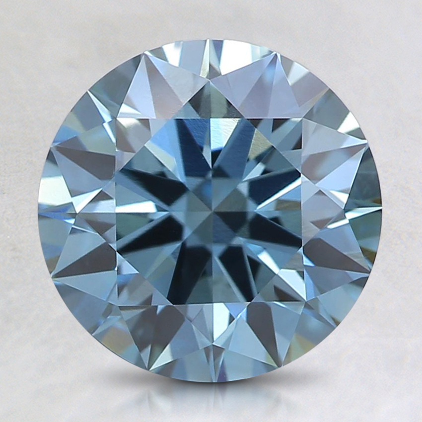 2.16 Ct. Fancy Deep Blue Round Lab Created Diamond