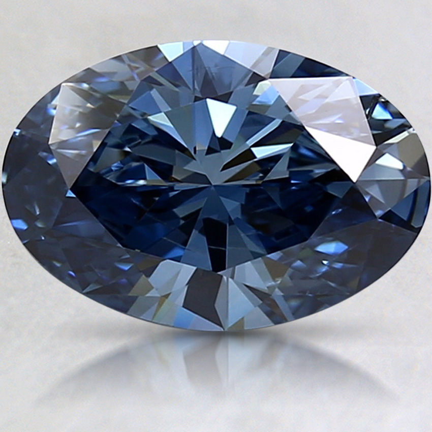2.38 Ct. Fancy Deep Blue Oval Lab Created Diamond