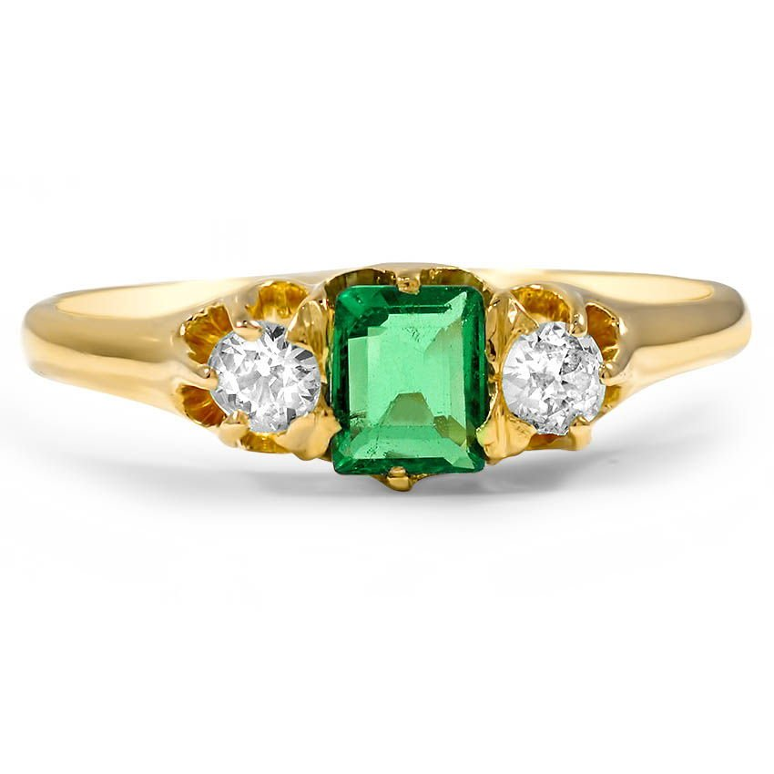 Victorian Emerald Vintage Ring