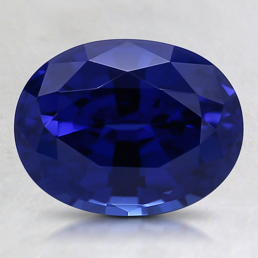 9x7mm Blue Oval Lab Created Sapphire