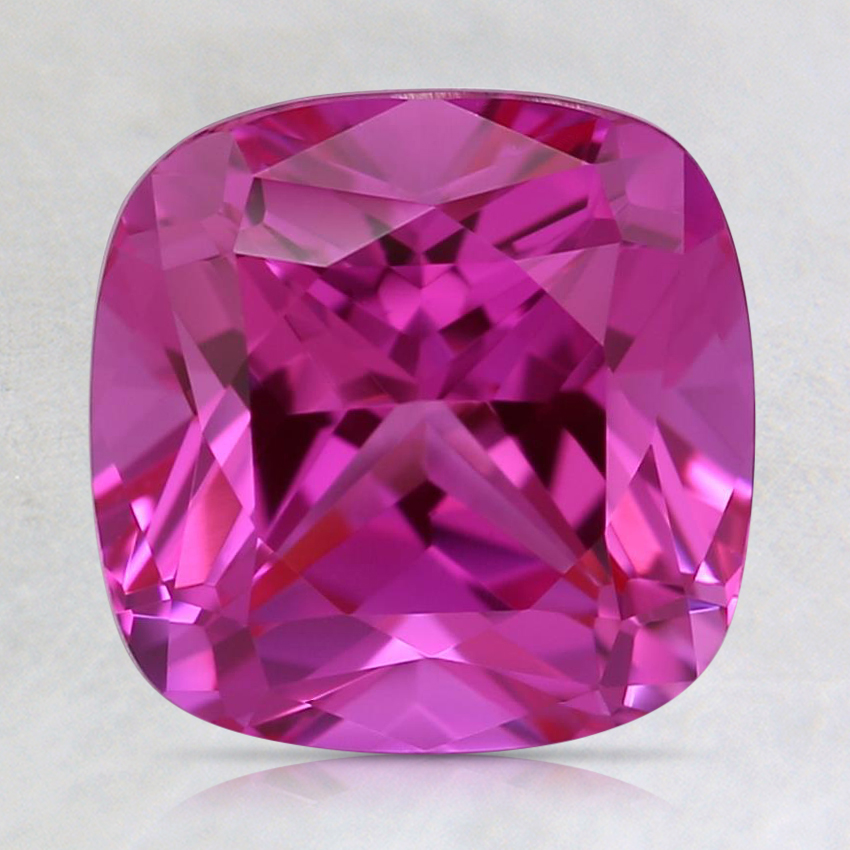 8mm Lab Created Medium Pink Cushion Sapphire