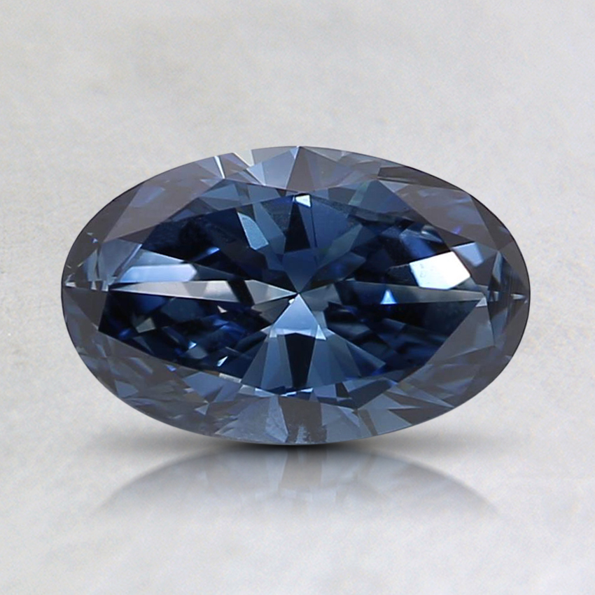 0.77 Ct. Fancy Deep Blue Oval Lab Created Diamond