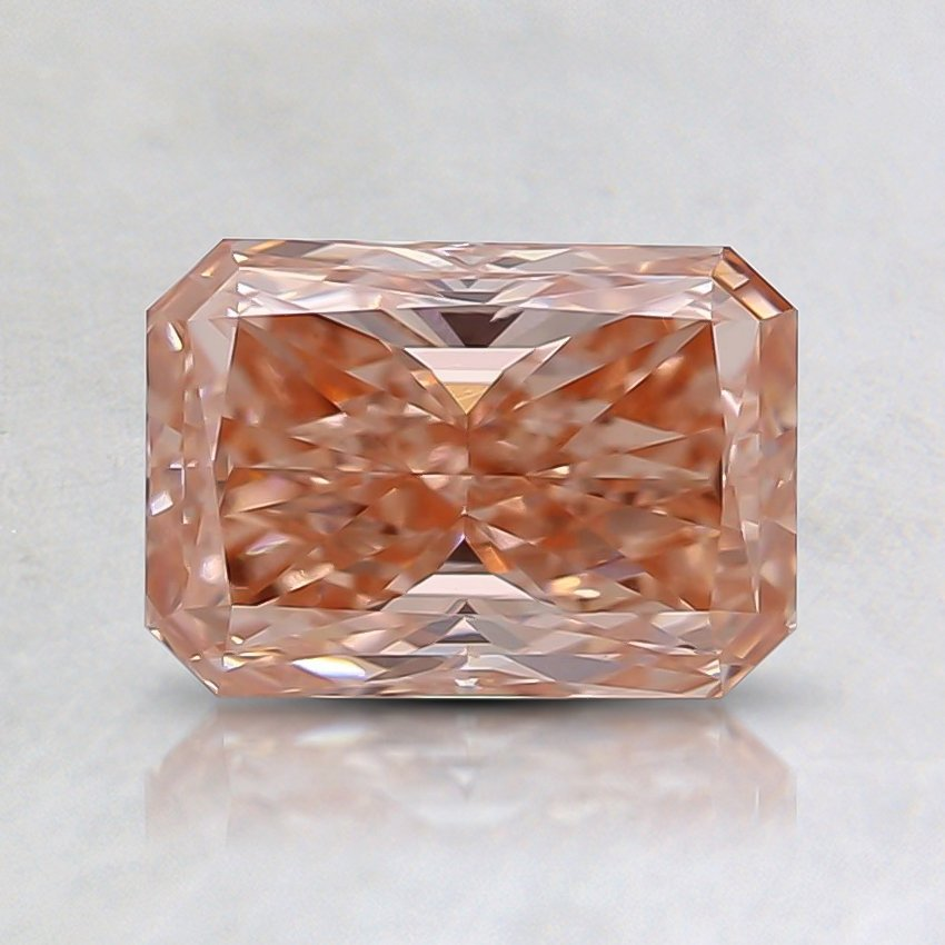 1.00 Ct. Fancy Orange Pink Radiant  Lab Created Diamond