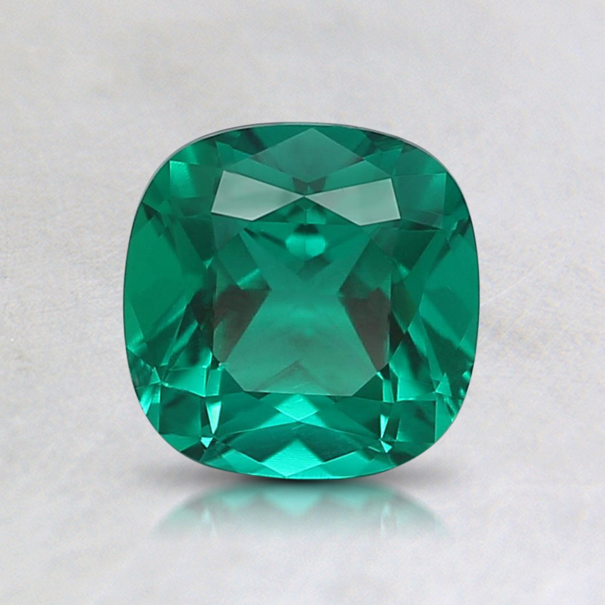 6mm Cushion Lab Created Emerald