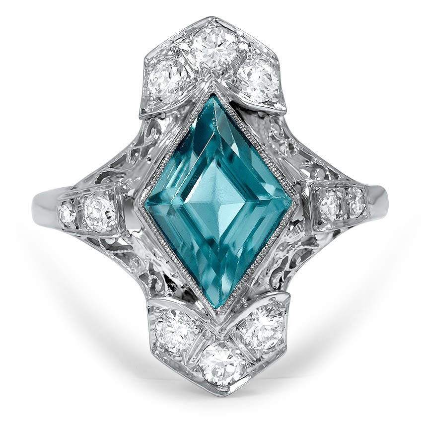 Art Deco Zircon Vintage Ring