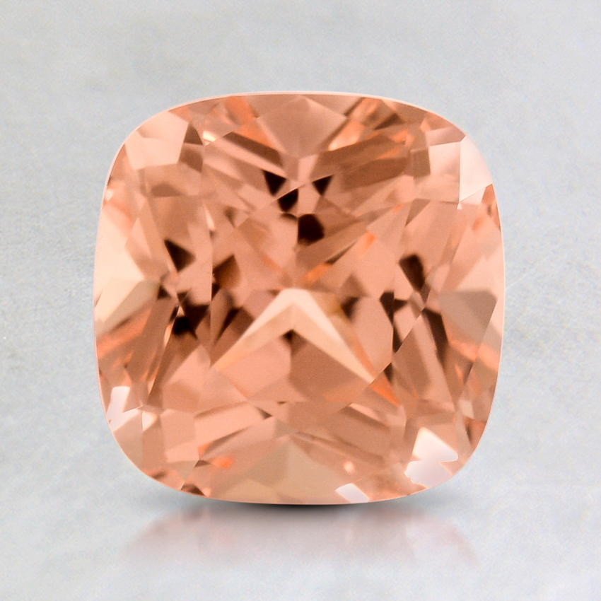 7mm Lab Created Peach Cushion Sapphire
