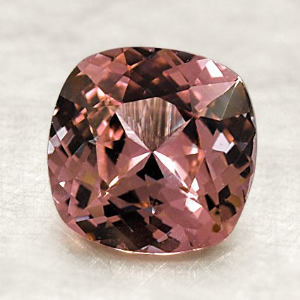 7.5mm Premium Peach Cushion Sapphire, top view
