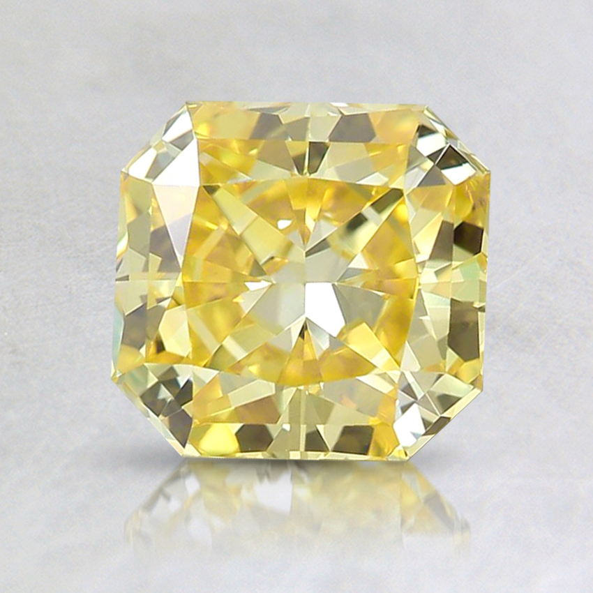 1.77 Ct. Fancy Vivid Yellow Radiant Lab Created Diamond