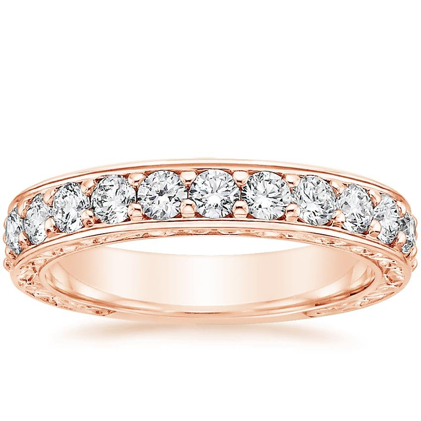 Antique Scroll Bands: Luxe Antique Scroll Ring (3/4 Ct. Tw.) In 14K Rose Gold