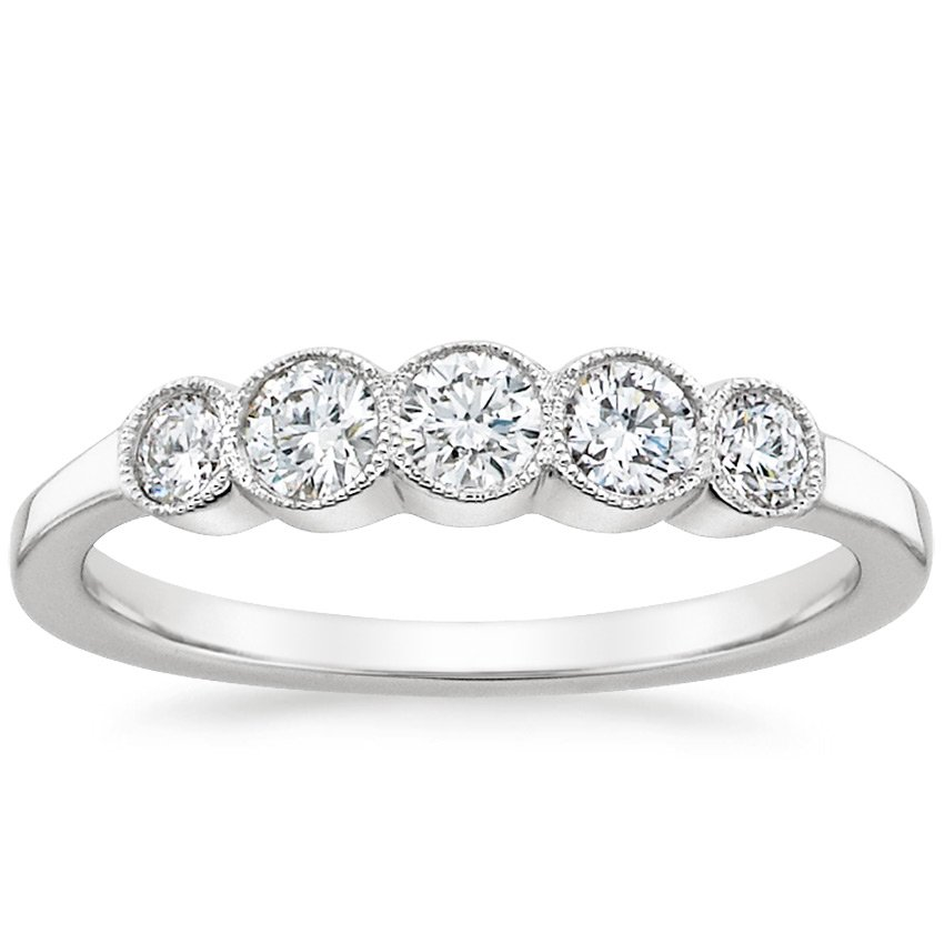 Bezel Milgrain Diamond Ring