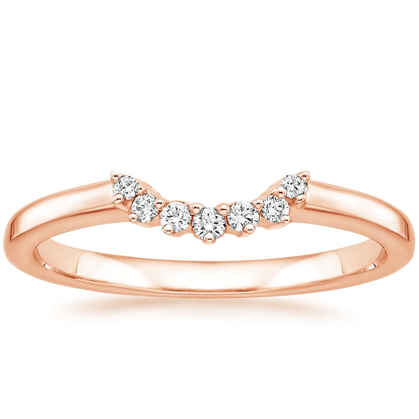 Rose Gold Crescent Diamond Ring