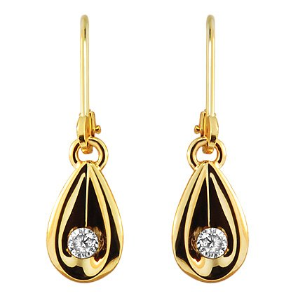 The Francesca Earrings, top view