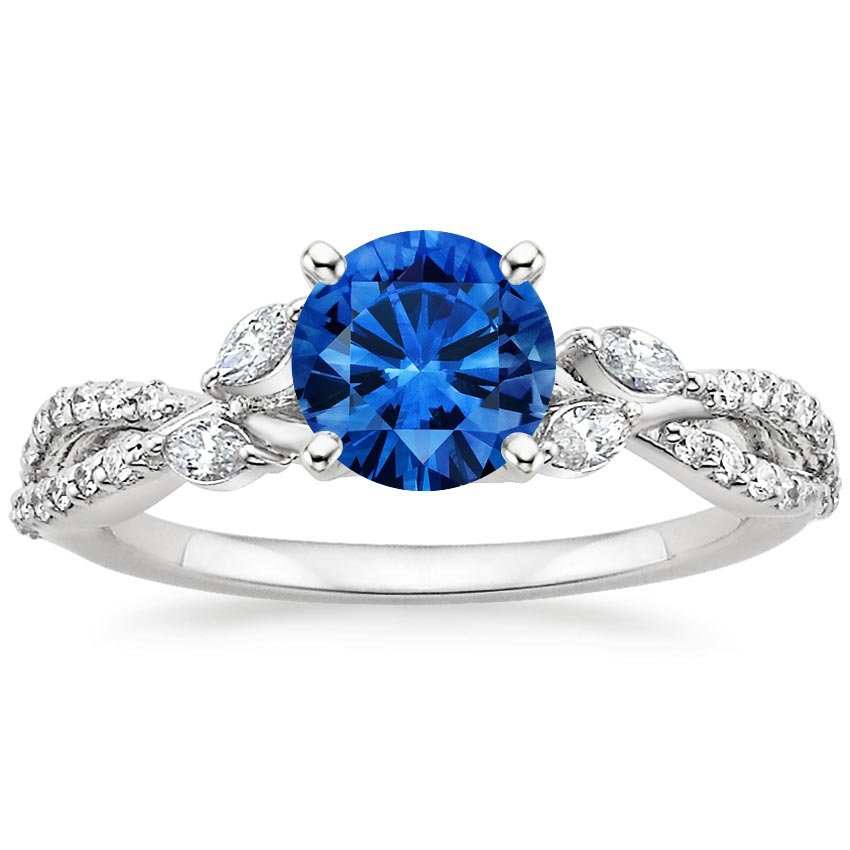 Top Twenty Sapphire Rings - SAPPHIRE LUXE WILLOW DIAMOND RING (1/3 CT. TW.)