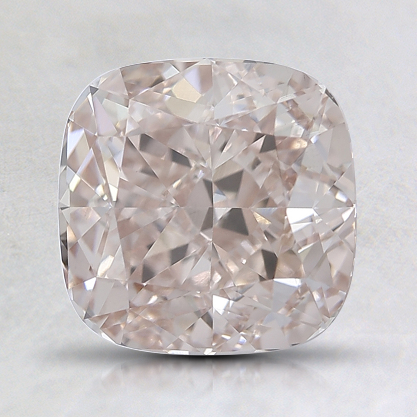2.08 Ct. Very Light Orangy Pink Cushion Lab Created Diamond