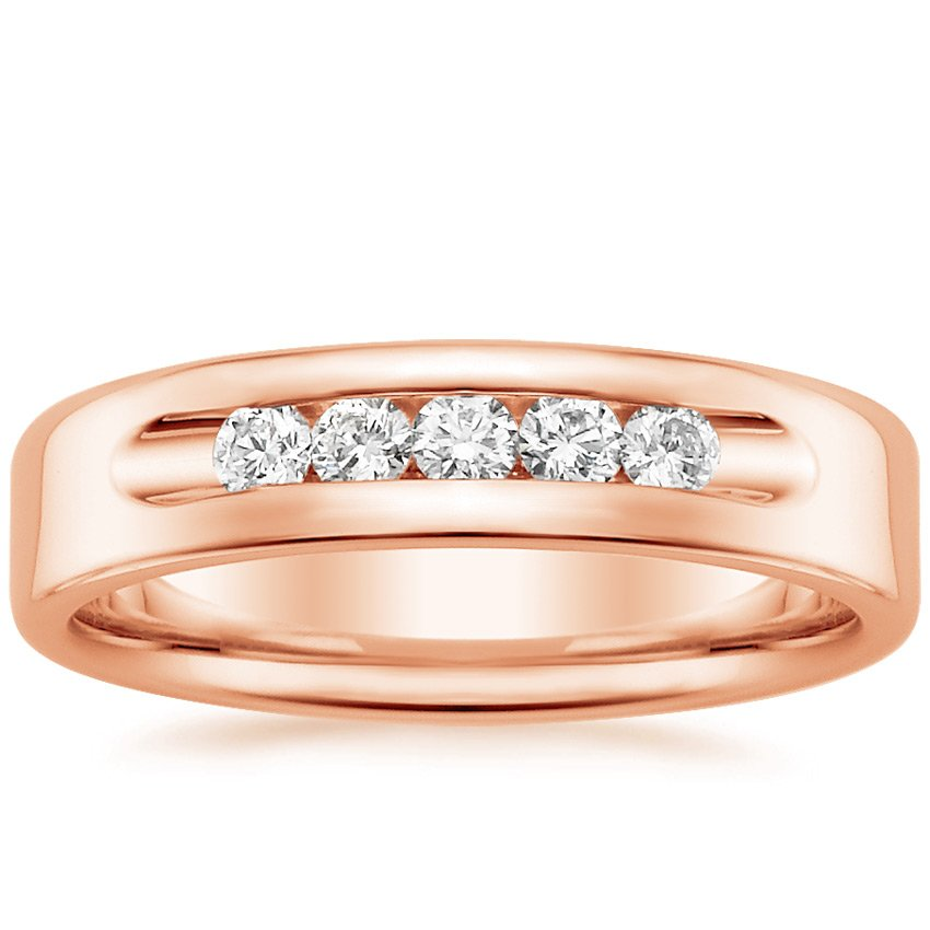Rose Gold Denali Diamond Wedding Ring