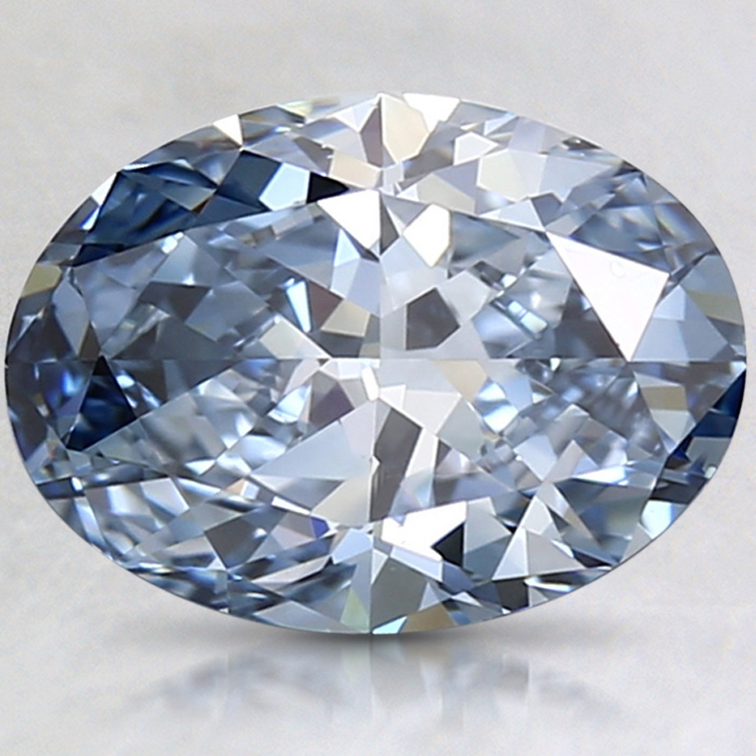 2.15 Ct. Fancy Intense Blue Oval Lab Created Diamond