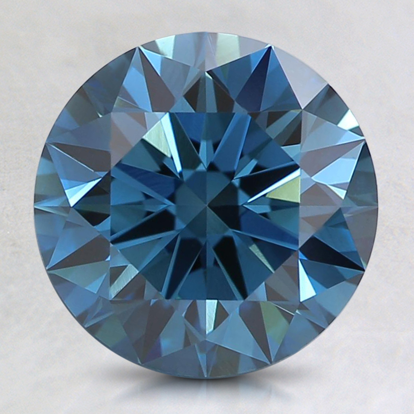 2.26 Ct. Fancy Dark Greenish Blue Round Lab Created Diamond