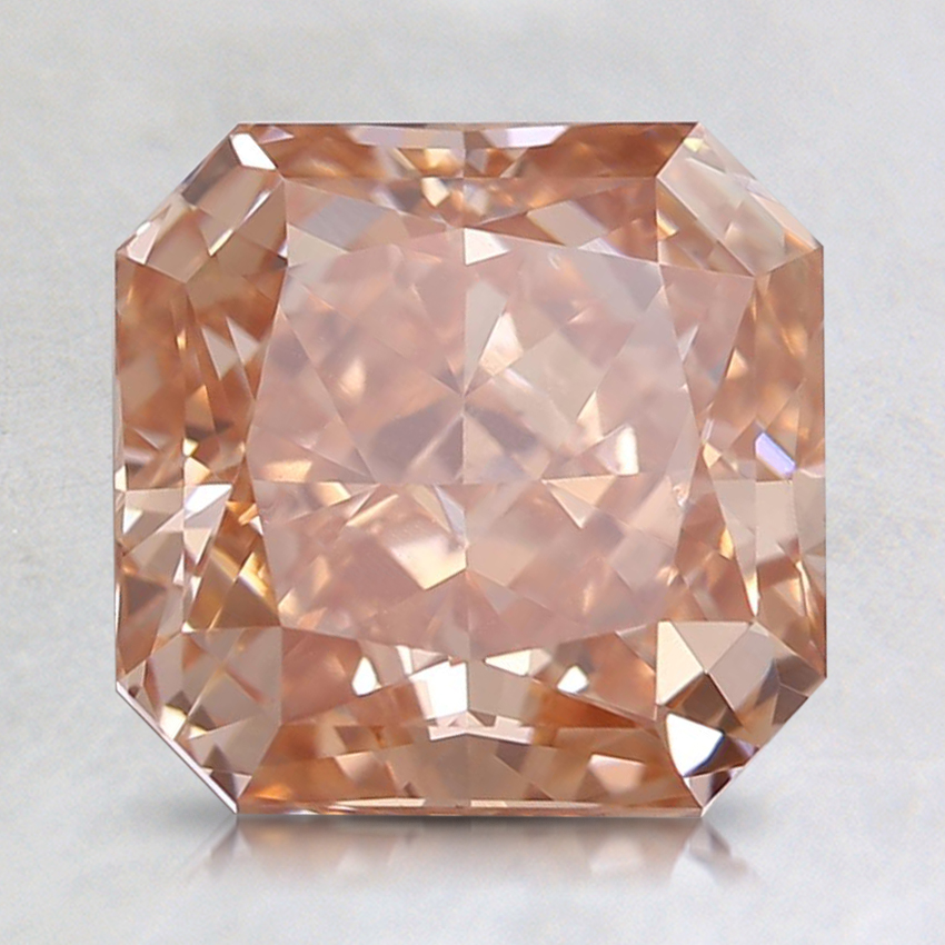 2.50 Ct. Fancy Intense Orangy Pink Radiant Lab Created Diamond