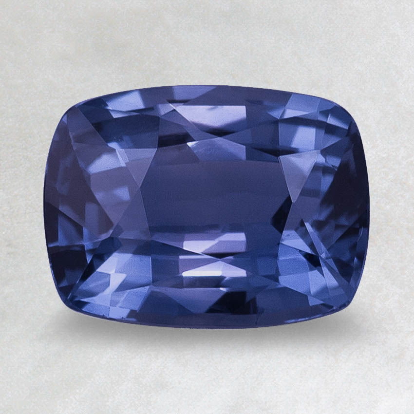 8x6mm Premium Blue Cushion Sapphire, top view