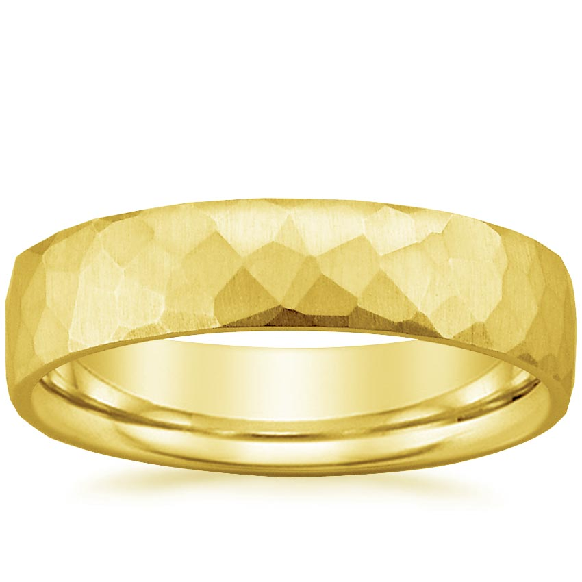 18K Yellow Gold Everest Wedding Ring, top view